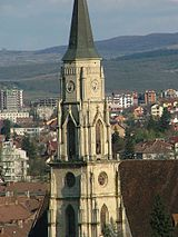 Cluj-Napoca St. Michael neogotic tower.jpg