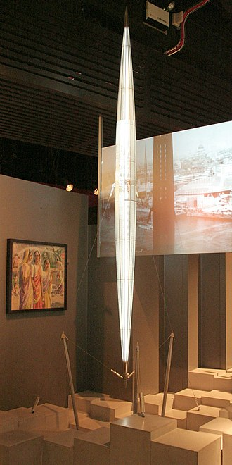 Skylon (Festival of Britain) - Skylon model at the Museum of London