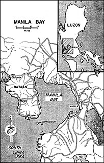 U.S. defense command for Manila and Subic Bays, Philippines consisting of five forts