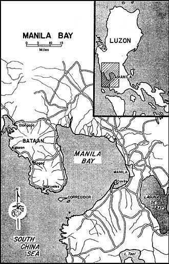 Harbor Defenses of Manila and Subic Bays - The harbor of Manila and surrounding areas