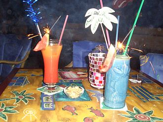 Mixed drink - Mixed drinks come in a wide variety of shapes and sizes, and they may be either  alcoholic or non-alcoholic.