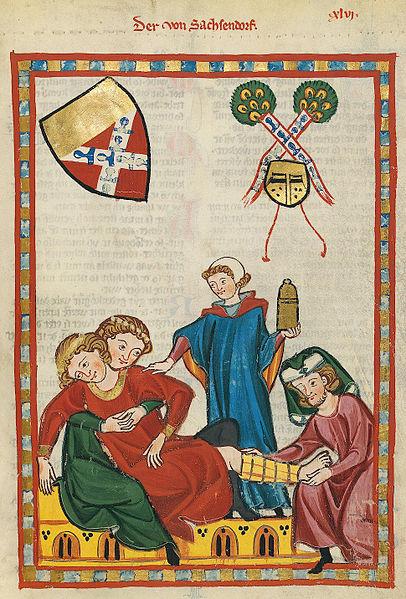 File:Codex Manesse 158r Der von Sachsendorf.jpg