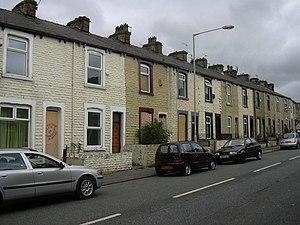 Byelaw terraced house - Early byelaw houses in Cog Street, Burnley