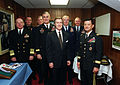 Cohen with the Joint Chiefs of Staff and the Commandant of the Coast Guard 20010117.jpg