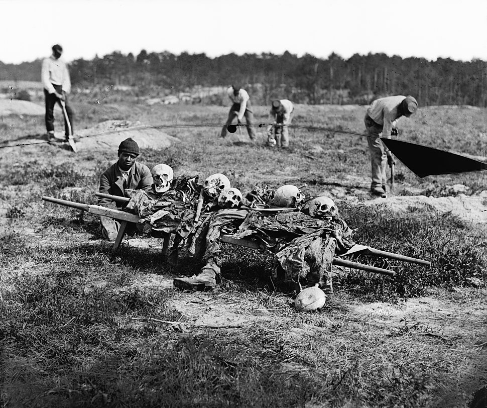 Cold Harbor, Va. African Americans collecting bones