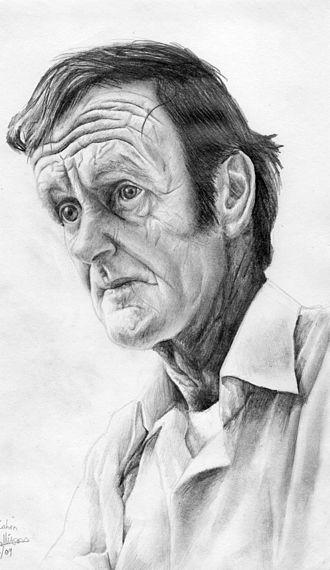 Colin McCahon - A pencil drawing of Colin McCahon by Allan Mollison (2009)