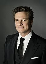 Photo of Colin Firth at a ceremony to receive a star on the Hollywood Walk of Fame.