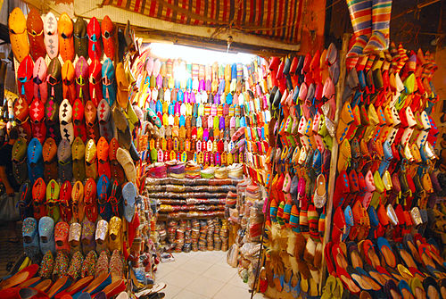 Colourful shoes in Marrakech
