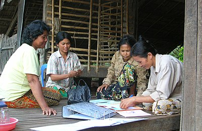 Community-based saving bank in Cambodia