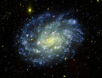NGC 300 - An ultraviolet image of NGC 300 taken by the Galaxy Evolution Explorer (GALEX)