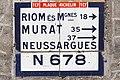 Condat - Plaque Michelin N678 vers Riom.jpg