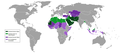 Constitutions of Muslim majority countries based on their religion status.png