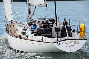 Contessa 32 - A Contessa 32 under sail, viewed from the port quarter.