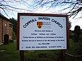 Coppull Parish Church, Sign - geograph.org.uk - 1103316.jpg