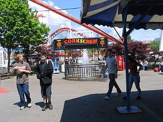 Playland (Vancouver) - Image: Corkscrew Playland