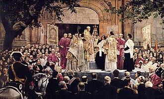 Jose Etxenagusia - Image: Coronación de La Madre de Dios de Begoña by José Etxenagusia