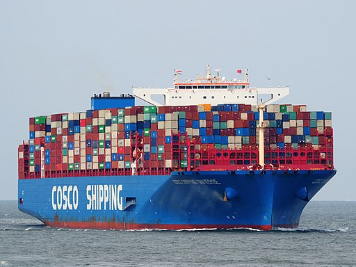 Cosco Shipping Universe (ship, 2018) IMO 9795610, Port of Rotterdam pic4