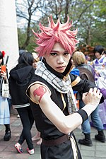 Cosplayer of Natsu Dragneel, Fairy Tail at CWT39 20150228d.jpg