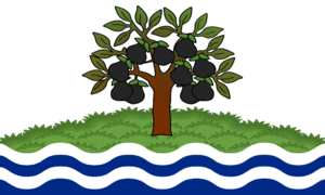 Flag of Worcestershire - Armorial banner of Worcestershire County Council