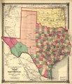 County map of Texas, and Indian Territory. LOC 2006629766.tif