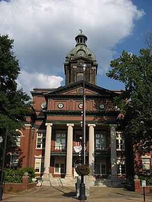 Coweta County Courthouse, gelistet im NRHP Nr. 80001006[1]