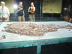 Cracow - Underground of the Old Market with Old Town model.JPG