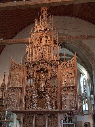 German art - Late Gothic altar by Tilman Riemenschneider