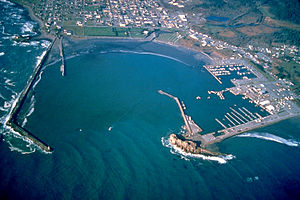 Del Norte County, California - Image: Crescent City California harbor aerial view