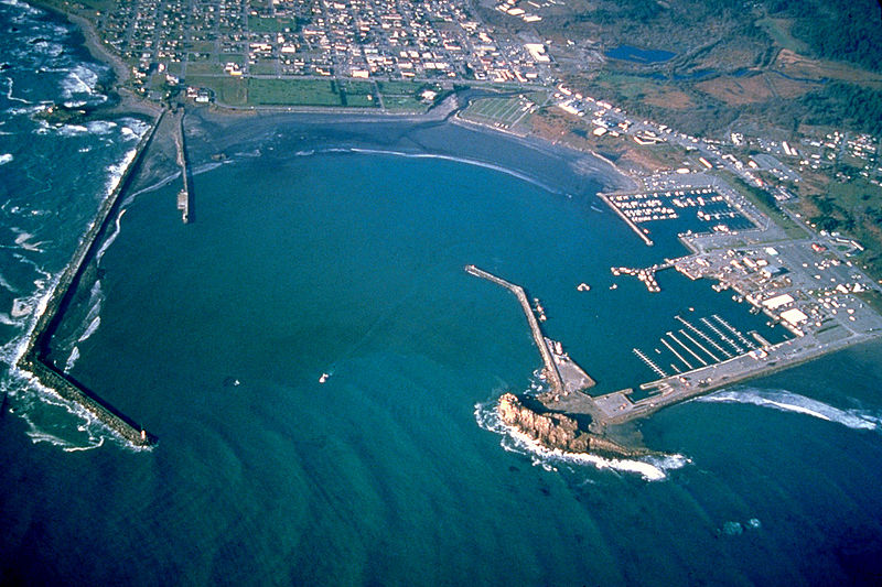 File:Crescent City California harbor aerial view.jpg