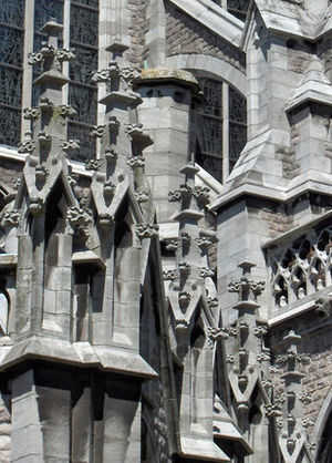 Pinnacle - Crockets on finials, Sint-Petrus-en-Pauluskerk; Ostend, Belgium