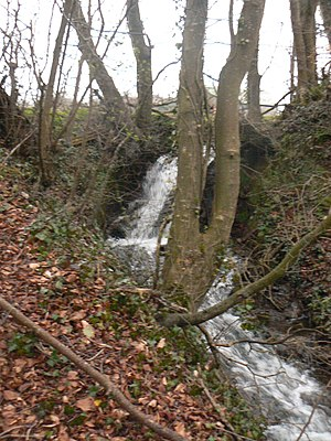 Dunshaughlin - Waterfall next to the old mill on the Killeen Road.