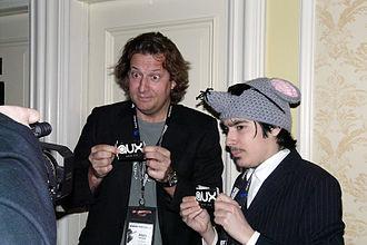 CFNY-FM - Alan Cross (left), Kayvon (right), March 2009