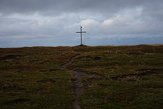 Religion in Norway - A cross close to the church in Grense Jakobselv, Norway