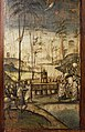 Crossing the Jordan River with the Ark, painted board, detail from the cabinets of the Old Sacristy, Church of St Mary the Gracious Milan. Italy, 15th.jpg