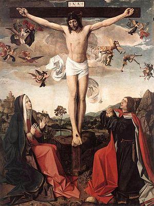 Josse Lieferinxe - Calvary, by Josse Lieferinxe, ca 1500 (Louvre)