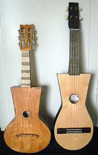 Puerto Rican cuatro - A pair of cuatro antiguos.