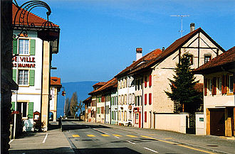 Cudrefin - Main street in Cudrefin
