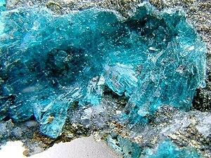 Melanterite - Image: Cuprian Melanterite Parys Mountain Mines, Amlwch, Isle of Anglesey, Wales, UK