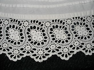 Tuck (sewing) - Image: Cutwork