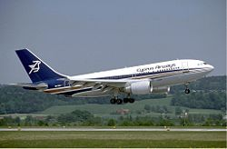 Cyprus Airways Airbus A310 at Zurich Airport in May 1985.jpg