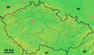 Outline of the Czech Republic - An enlargeable topographic map of the Czech Republic
