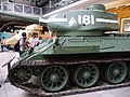 Czechoslovak-produced T-34-85 tank at the Imperial War Museum London.jpg