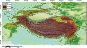 Carte de localisation de l'Himalaya.