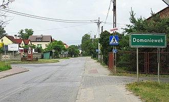 Domaniewek, Masovian Voivodeship - Image: DOMANIEWEK 01