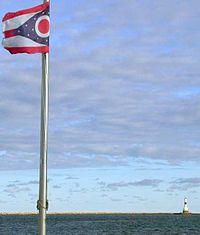 La costa de Ohio del Lago Erie.