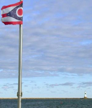 Ohio - The Ohio coast of Lake Erie.