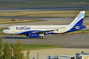 IndiGo - An Airbus A320 in IndiGo colors before delivery at Toulouse
