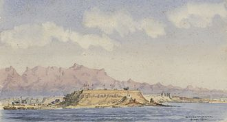 Shanhai Pass - Shanhaiguan, painted by a passing traveler in 1900