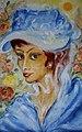 Dagmar Anders - Audrey Hepburn als My Fair Lady, Öl.jpg