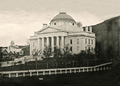 Daguerrotype of the second Vermont State House (ca. 1850).png